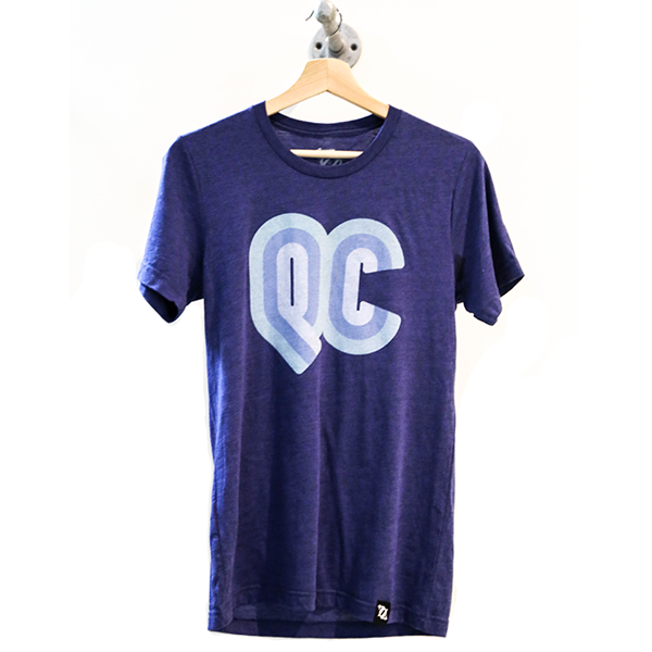 704 Shop QC Retro Tee - Navy (Unisex)
