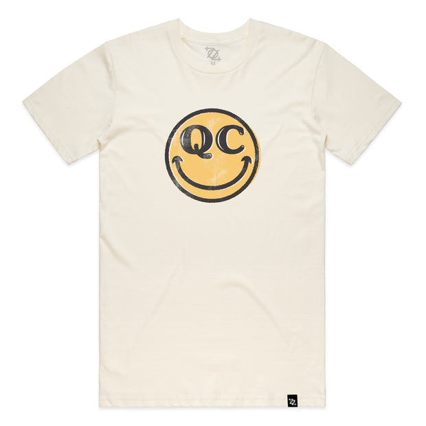 704 Shop QC Smiley Tee - Natural (Unisex)