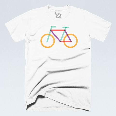 704 Shop + Charlotte Center City Partners - Rail Trail Bike Tee - White (Unisex)
