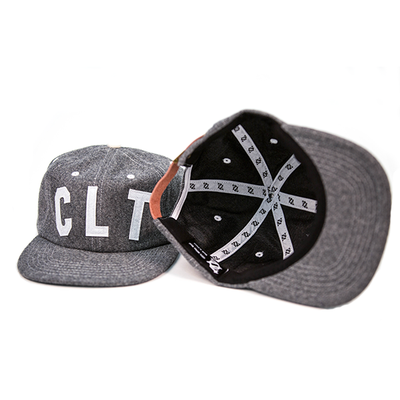 704 Shop Retro Melton Wool CLT Hat (Gray/White)