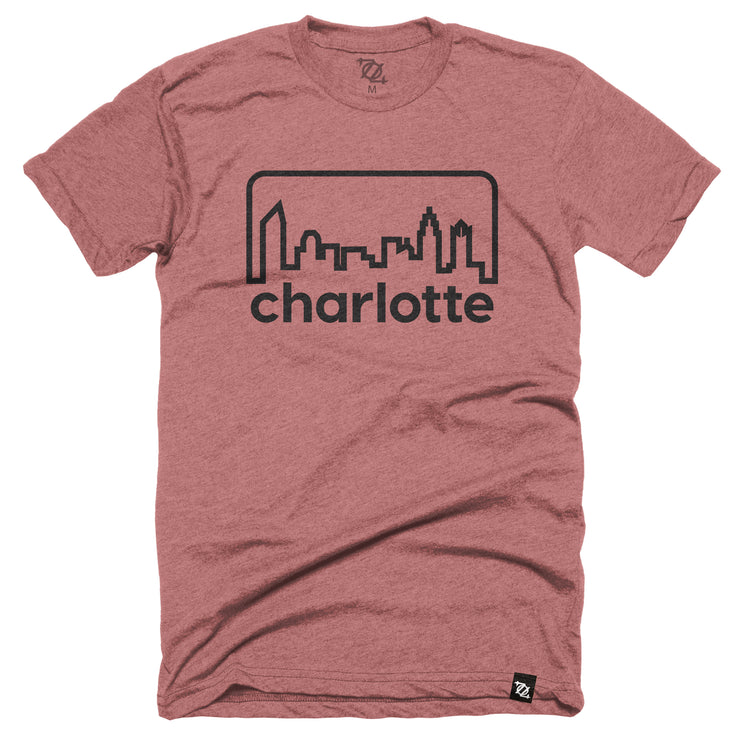704 Shop Retro Skyline - Heather Mauve/ Black (Unisex)