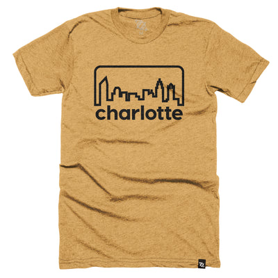 704 Shop Retro Skyline - Mustard/ Black (Unisex)
