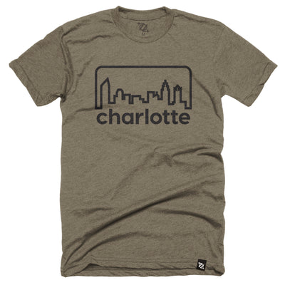 704 Shop Retro Skyline - Heather Olive/ Black (Unisex)