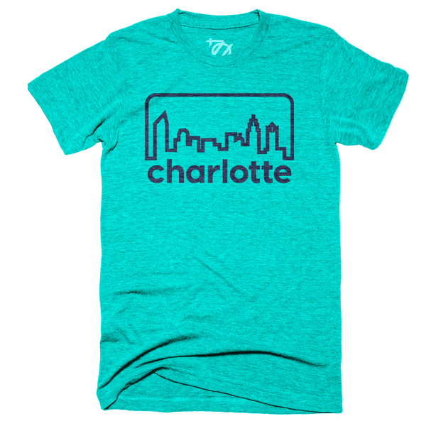 704 Shop Retro Skyline - Sea Green/Navy (Unisex)