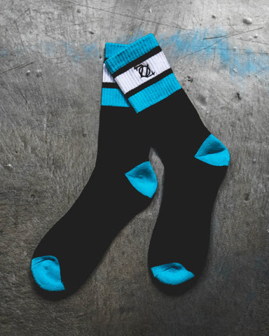 704 Shop Retro Sport Socks - Black/Blue/White