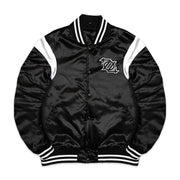 704 Shop Process™ Satin Jacket - Black/White (Unisex)