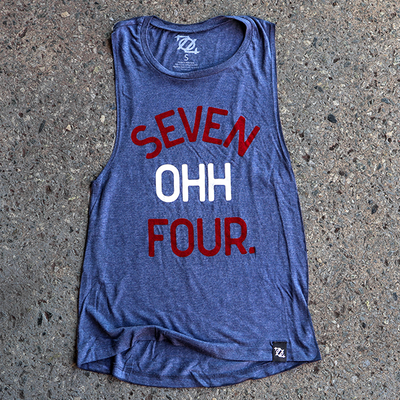 704 Shop Seven Ohh Four Muscle Tank - Red, White, Blue (Women's)