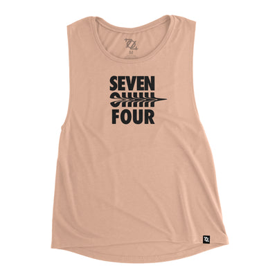 704 Shop Seven Ohhh Four Liquified Muscle Tank - Peach (Women's)