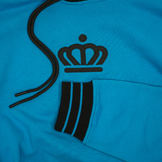 704 Shop Process™ x City of Charlotte Official Crown Colorblock Hoodie - Blue/Black (Unisex)