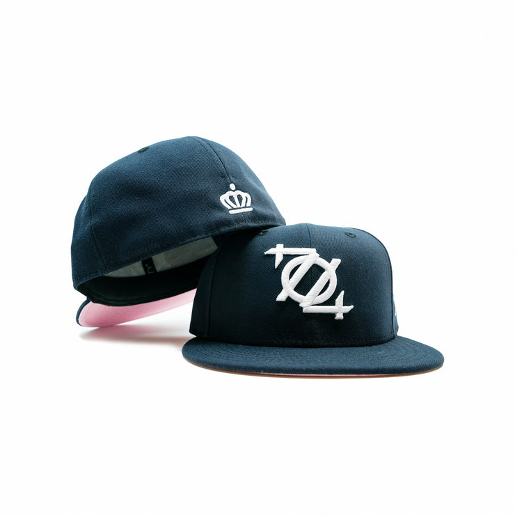 704 Shop x New Era 704 Logo 5950 Fitted Cap - Navy/White/Pink