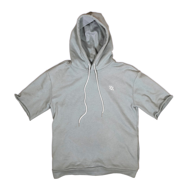 704 Shop French Terry Short Sleeve Hoodie - Sea Foam