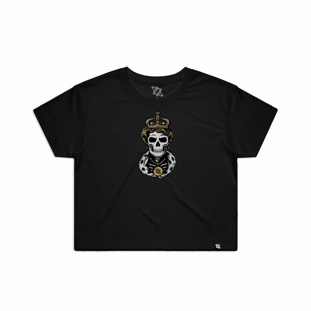 704 Shop Skeleton Queen Crop Tee - Black (Women's)