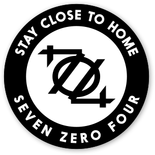 704 Shop Sticker - Stay Close To Home Badge