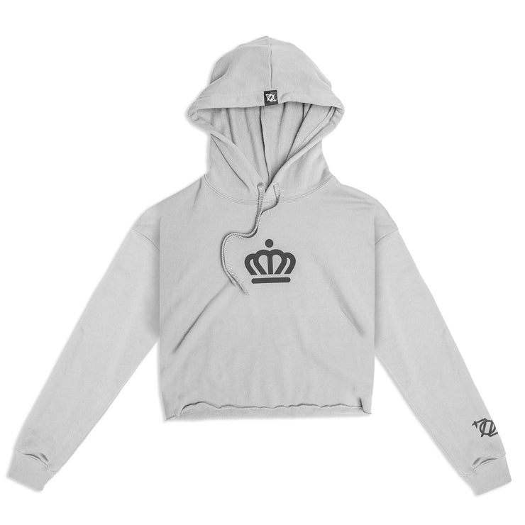704 Shop x City of Charlotte Official Crown Cropped Sweatshirt - Storm/Black (Women's)