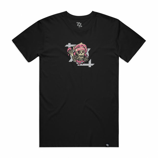 704 Shop x Swirl CLT Skeleton Baker Tee - Black/Multi (Unisex)