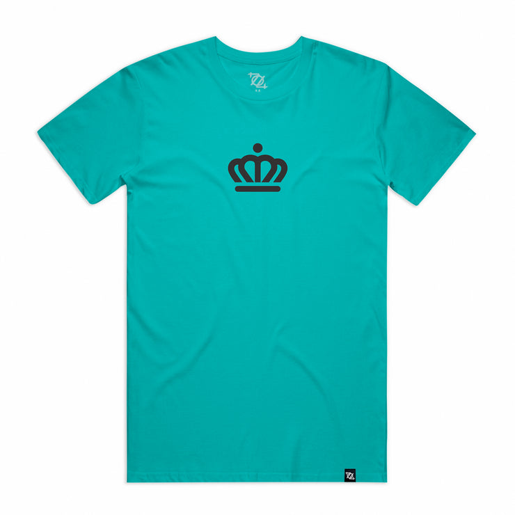 704 Shop x City of Charlotte Official Crown Tee -  Teal/Black (Unisex)