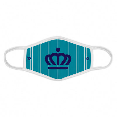 704 Shop x City of Charlotte Official Crown Pinstripe Face Mask - Teal/White/Purple