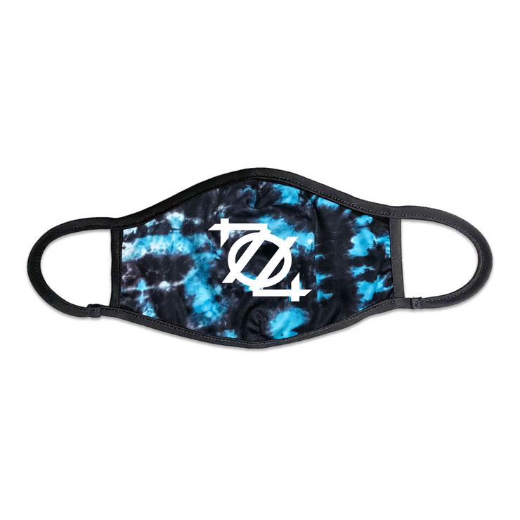 704 Shop 704 Logo Face Mask - Tie Dye Blue/Black/White
