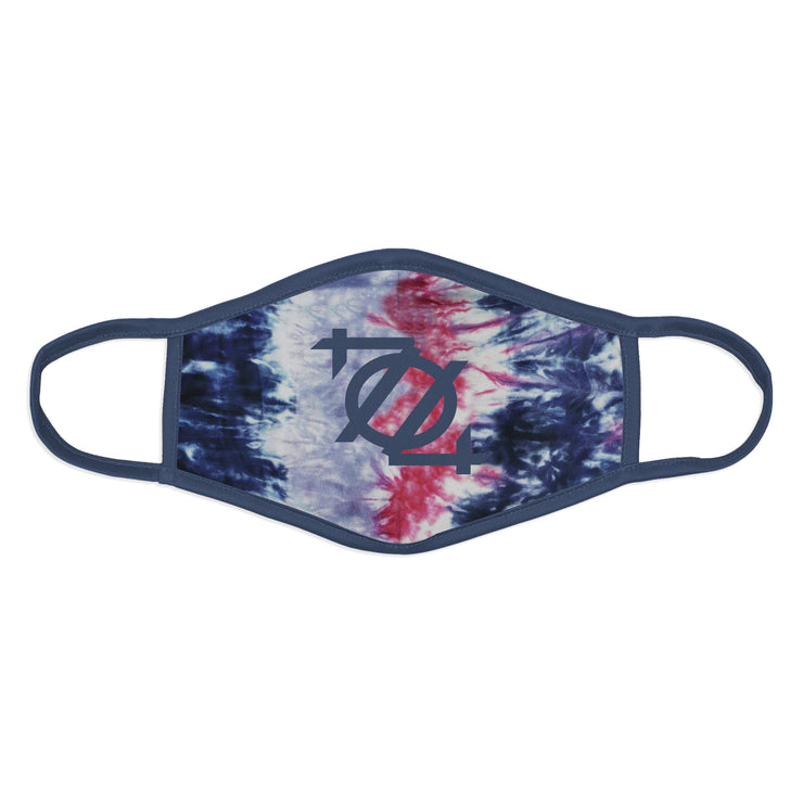 704 Shop 704 Logo Face Mask - Tie Dye Blue/Pink/White