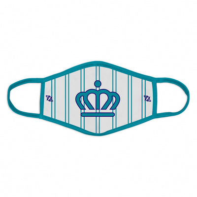 704 Shop x City of Charlotte Official Crown Pinstripe Face Mask - White/Teal
