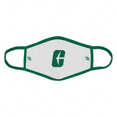 "704 Shop x Charlotte 49ers - ""All In C"" Logo Mask - White/Green"
