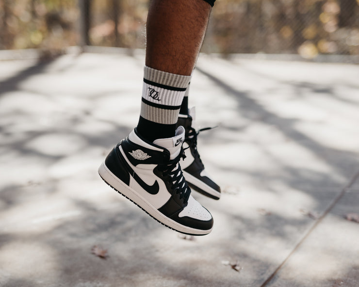 704 Shop Sport Sock - Black/White/Gray