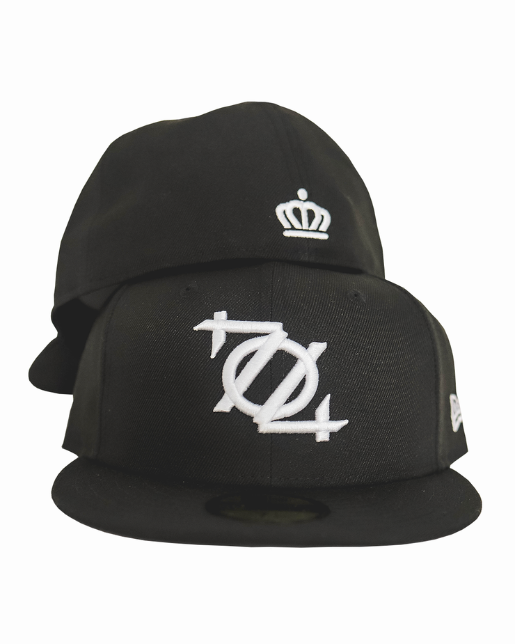 704 Shop x New Era 704 Logo 5950 Fitted Cap - Black White
