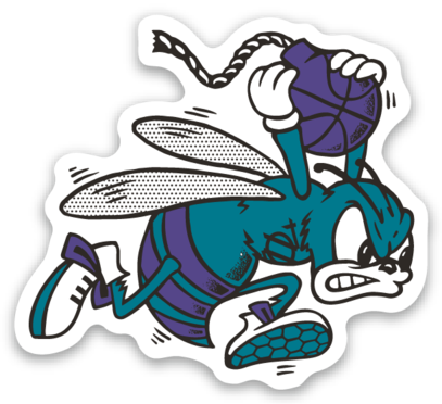 704 Shop Retro Hornet Sticker