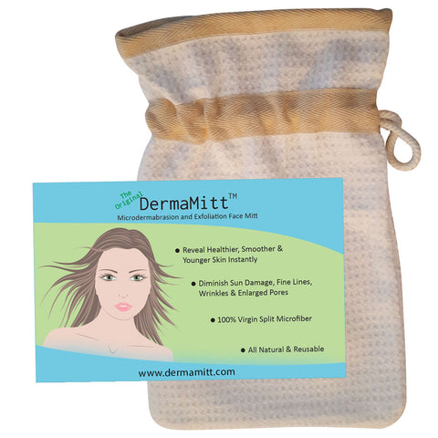 The ORIGINAL DermaMitt™ ~  Microdermabrasion & Exfoliation Face Mitt