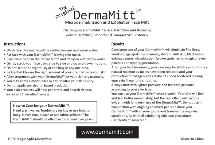 The ORIGINAL DermaMitt™ ~  Microdermabrasion & Exfoliation Face Mitt - SmartThingz  - 3