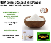 Load image into Gallery viewer, Collagen Peptides Powder with Extra Rich Organic Cacao, Organic Matcha Green Tea & Organic Coconut Milk Powder - 10 oz.