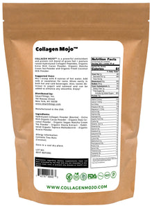 Collagen Peptides Powder with Extra Rich Organic Cacao, Organic Matcha Green Tea & Organic Coconut Milk Powder - 10 oz.