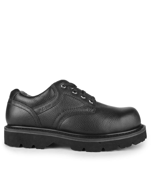 wide black work shoes