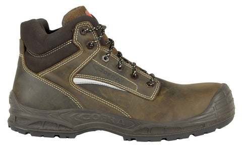 Cofra MONTPELLIER Brown Men Safety Shoes METAL FREE Anti-Static Slip-Resistant