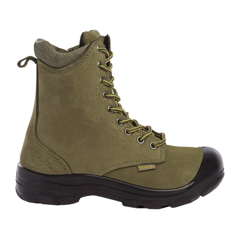 Pilote & Filles S558 KHAKI Safety Boots for Women with Zipper