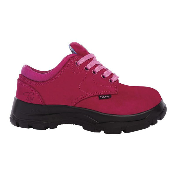 Pilote et Filles PF605 Raspberry Laced Safety Work Shoes for Women