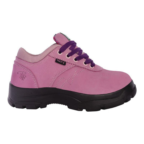 Pilote et Filles PF605 Pink Laced Safety Work Shoes for Women