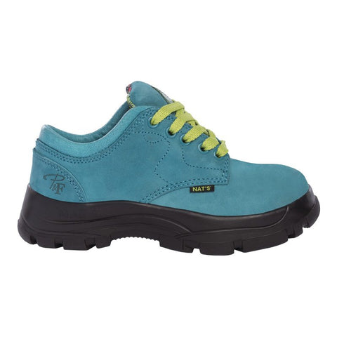 Pilote et Filles PF605 Turquoise Laced Safety Work Shoes for Women