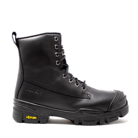Royer 6000VTAG Black Safety Boots with VIBRAM ARCTIC GRIP PRO outsole Assembled in Canada - SafetyFoot.com