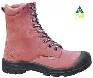 Pilote & Filles S558 RED Safety Boots for Women with Zipper