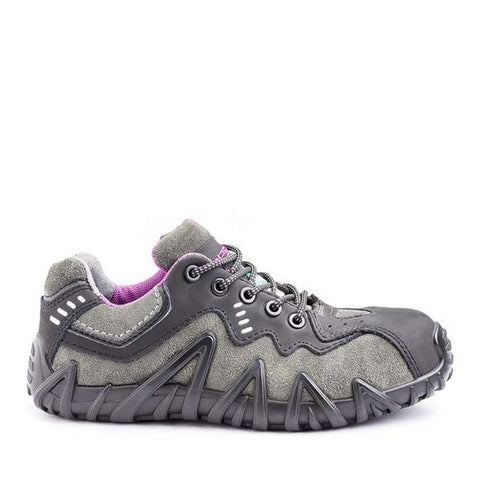 Terra Footwear 106007 SPIDER Charcoal/Pink Women Metal Free Safety Shoe