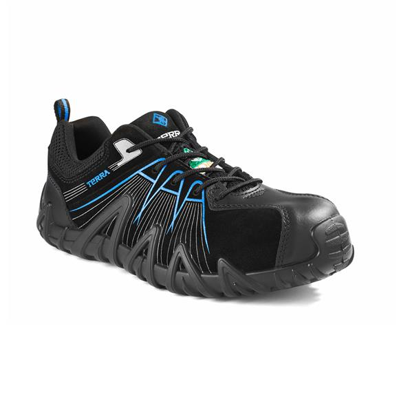 Terra Footwear TR0A4NPYBLB SPIDER X Black Blue CSA Safety Shoes Composite Toe Composite Plate