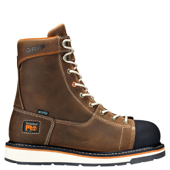 Timberland Pro Gridworks Waterproof Alloy Safety Toe Men Safety Boots Brown