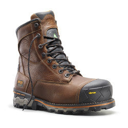 "Timberland Pro 8"" Boondock Brown 89646 Men Safety Boots Waterproof Insulated Composite Toe"