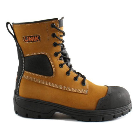 "Unik Industrial U-SF89600 Tan 8"" Composite Work Boots for Men 5E Width"