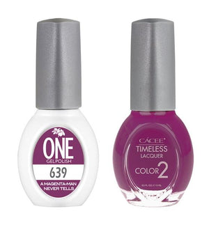 A Magenta Man Never Tells Matching Color of One Gel Polish & Timeless Lacquer Duo Set