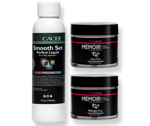 Smooth Set Acrylic Nail Kit - Midnight Pink & Ultra Pink