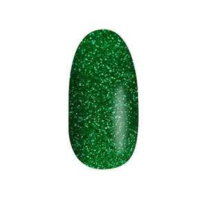 Color Acrylic Nail Art Powder, Green Glitter #29
