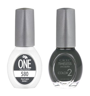 Rather Grey Matching Color of One Gel Polish & Timeless Lacquer Duo Set
