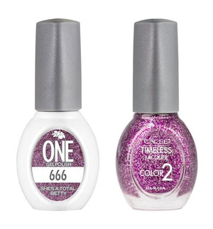 She's A Total Betty Matching Color of One Gel Polish & Timeless Lacquer Duo Set